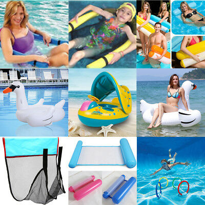 Summer Swimming Inflatable Floating Float Water Hammock Pool Lounge Chair Lot