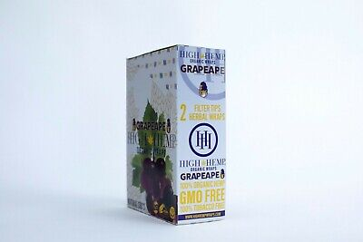 Zig Zag Cigar Wraps 2 Per Pack. Grape  25 Packs Per Box