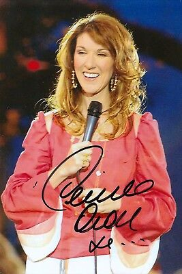 Celine Dion Rare 8X10 Signed Autograph Photo Reprint #12 With Free Magazine