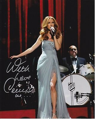 Celine Dion Rare Signed 8X10 Photo Reprint #6 Las Vegas With Free Magazine