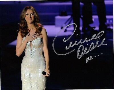 Celine Dion Rare Signed 8X10 Vegas Photo Reprint #5 With Free Magazine