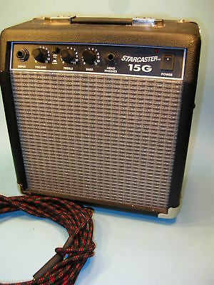 FENDER STARCASTER 15G 15 Watt GUITAR AMPLIFIER w/ DISTORTION