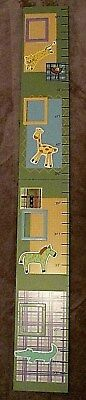 Adorable Jungle Safari Wooden Growth Chart-holds photos