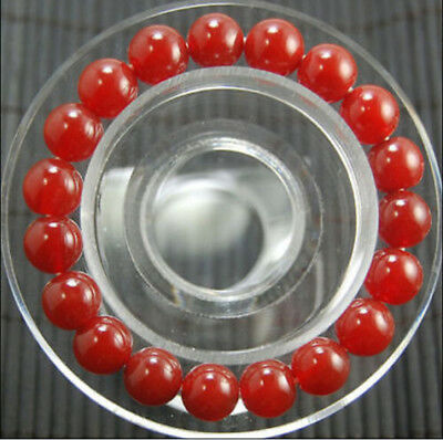 """10mm Natural American Ruby Round gems Beads bracelet 7.5"""" AA"""