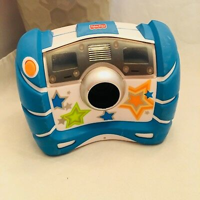 Fisher Price Kid Tough Blue digital Camera Stars Mattel 2007 Toy play Working!!