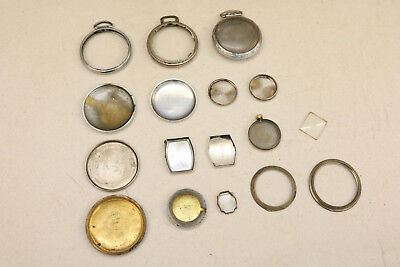 Lot of Watchmaker Vintage Watch Back Case Backs Cases Parts Mixed