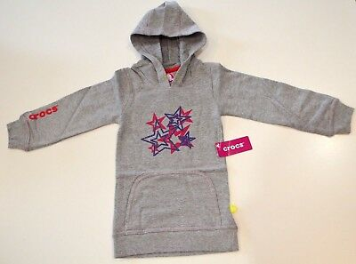 Crocs Girls Hoodies -  GREY  - SIZES - 2, 3 & 6 - NEW