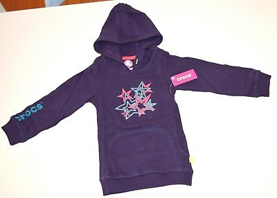 Crocs Girls Hoodies -  PURPLE  - SIZES -  3 & 4 - NEW