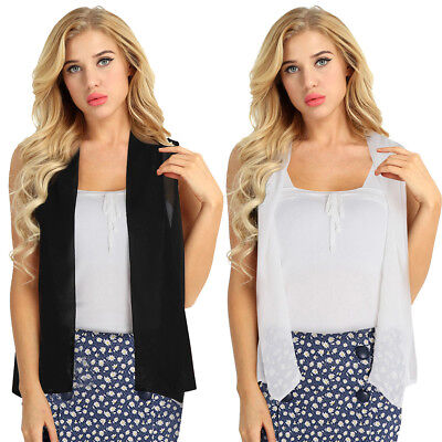 Womens Floral Lace Kimono Cardigan Chiffon Vest Beach Cover Up Tops Shirt Coats