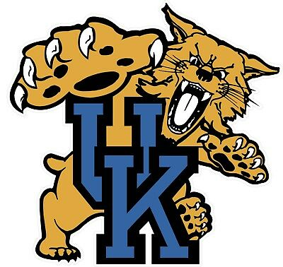 """University of Kentucky Wildcats NCAA Color Decal Sticker -You Choose Size 2""""-28"""""""