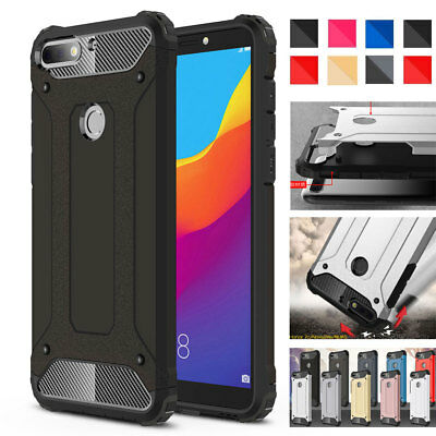 Shockproof Rubber PC Hybrid Armor Case for Huawei Y5 Y6 Y7 Prime/Y9 PSmart Cover