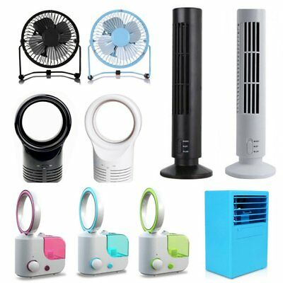 Portable Cooling Usb Fan Desk Fans Electric Tower Standing Pc Home Office Ha