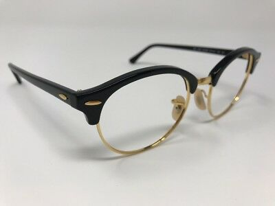 5a20a49dccdd3 RAY BAN SUNGLASSES RB4246 901 51mm BLACK GOLD CLUBMASTER Round P788 ...