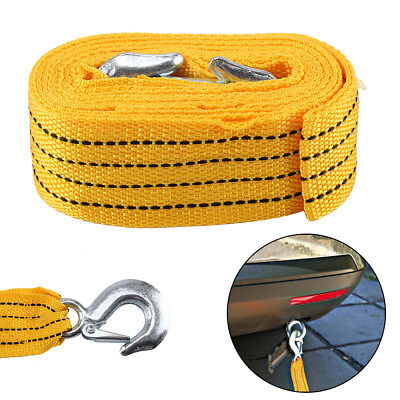 4M Tow Towing Pull Rope Strap 3 Tonne Heavy Duty Road Car Van Recovery