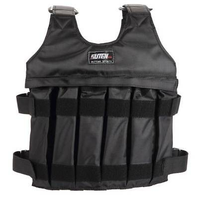 Training 20kg Adjustable Weighted Vest Max Loading Jacket Boxing Waistcoat-GET
