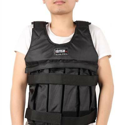 50kg Jacket Waistcoat Boxing Weighted Vest Adjustable Training Max Loading-GET