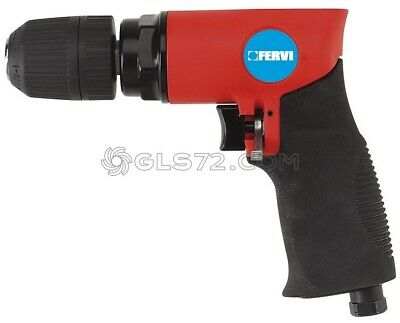 Reversible Air Impact Wrench Drill Gun Tool Compressor Chuck 10 Mm Fervi 0574