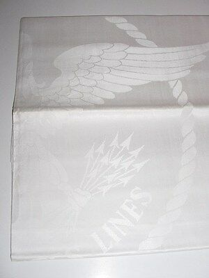 SS UNITED STATES LINES  Large Eagle Insignia Tablecloth  / (3) Different Sizes