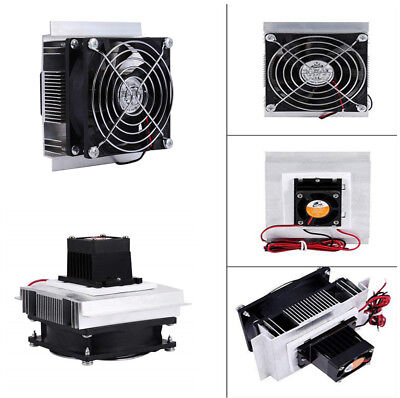 12V 6A DIY Thermoelectric Peltier Refrigeration Cooling System Cooler Fan