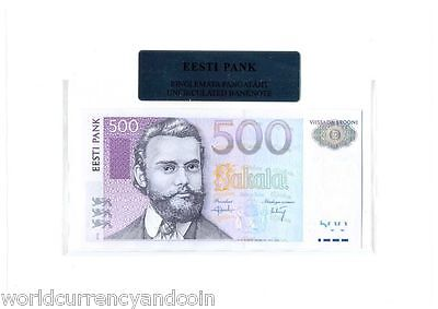 Estonia 500 Krooni P83 2000 Euro Barn Swallow Unc Currency Money Bill Bank Note