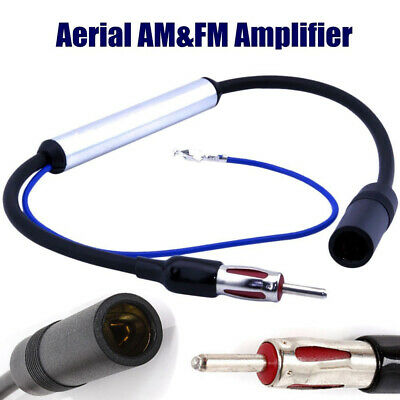 Car Auto Antenna Aerial Radio AM&FM Inline Signal Amplifier Amp Booster Wire 12V
