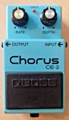 Boss Roland CE-2 Chorus Guitar Pedal Made In Taiwan MIT Green Label Vintage 1989