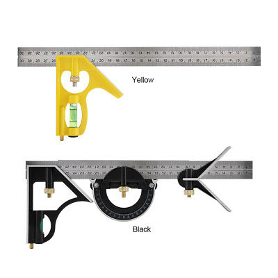 Combination Angle Ruler Set Angle Finder & Protractor Level Adjustable Measure