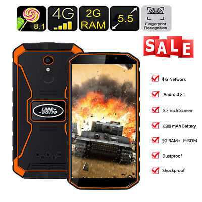 """Rugged 4G Smartphone Android 8.1 Unlocked 2G+16G Outdoor HD Quad Core Phone 5.5"""""""