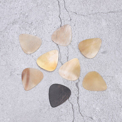 8 Quality Buffalo Horn Guitar Pick Plectrum for Bass Mandolin Banjo 0.46--0.91mm