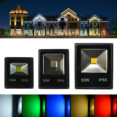 10W 20W 30W 50W 70W LED RGB Floodlight Security Lamp Landscape Indoor Outdoor UK