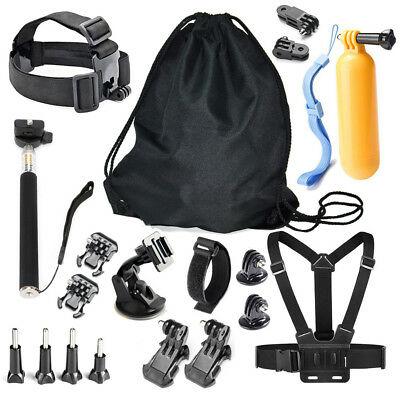 For GoPro 1 2 3 4 5 Camera 20 in 1 Head & Chest Strap Accessories Combo Kit