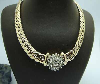 Brillant Collier 585 Gold Diamant Kette 44 cm 1,0ct Halskette Diamantenkette