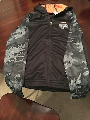 Youth XL (18) Reebok Made Face Off Hooded Jacket with Zipper and Pockets!!