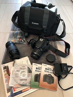 Canon EOS Rebel T3i / EOS 600D 18.0MP Digital SLR Camera - with Zoom lens 75-300