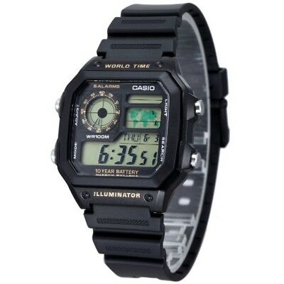 NEW CASIO STANDARD Watch AE-1200WH-1B AE-1200WH-1B Mens From Japan F/S