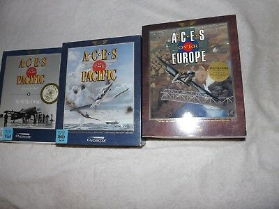 Aces Over Europe/Aces of the Pacific lot of 2 MS-DOS computer games 1992-93