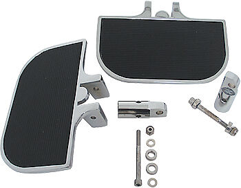 Chrome Mini Floorboard Kit-  Harley Sportster or Big Twin - Universal Fit