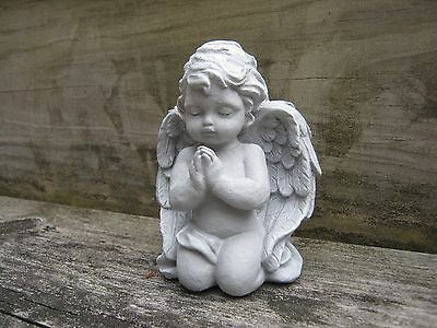 Angel Statue, Small Praying Angel, Angel Figure, Concrete Garden Angel, Angels