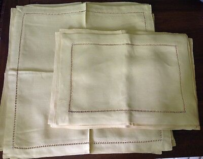 Sferra Bros. linen placemats and napkins set of 10 each pale gold color