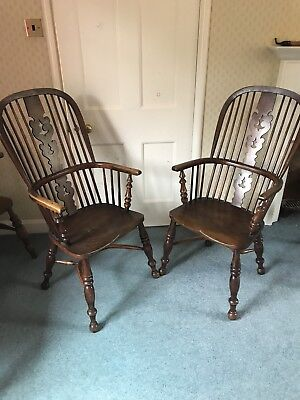 Antique Windsor Chairs (pair) REDUCED IN SALE TO £650 FOR PAIR