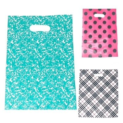 100 Pieces A Packet. Checked,Striped, Polka Dot, Plain and Abstract Carrier Bag
