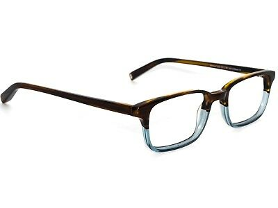 57383db1614 Warby Parker Eyeglasses Wilkie 325 Brown Clear Fade Rectangular Frame 50  18  145