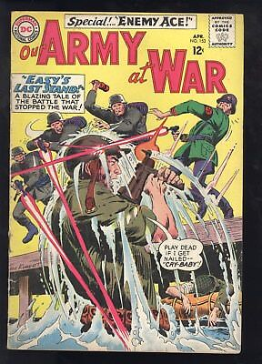 Our Army At War (1952) #153 1st Print 2nd App Enemy Ace Joe Kubert Cov/Art Good+