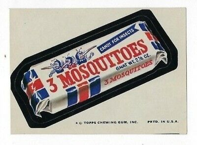 1974 Topps Wacky Packages 9th Series 9 - 3 MOSQUITOES CANDY nm- o/c