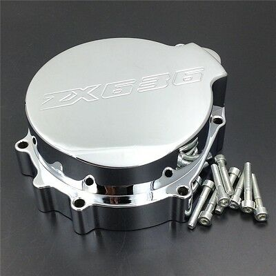 For Kawasaki ZX6R 636 2003-2004 Engine Stator cover CHROME left side