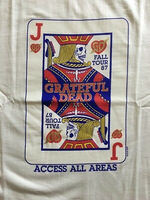 "Grateful Dead Vintage Tour T-Shirt ""Jack Of Hearts"" Fall Tour 1987 Med NEW Rare!"