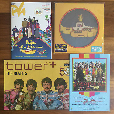 Japan 2Cover 2018 7 Picture Vinyl+ Poster+ Flyer + Mag! Beatles Yellow Submarine