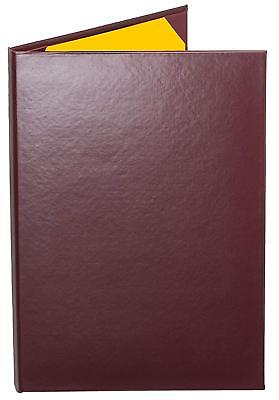 "MENU COVERS BURGUNDY CASEBOUND DOUBLE PANEL - 2-VIEW - 8.5"" x 14"""