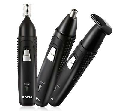ROZIA Nose Trimmer,Rechargeable Hair Clipper Facial Mustache Beard Grooming Shav