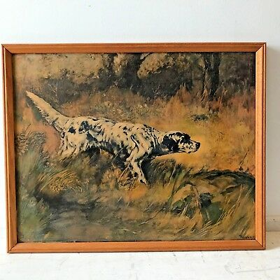 English Setter Pointer Hunting Dog Painting Percival Rosseau Reproduction Art